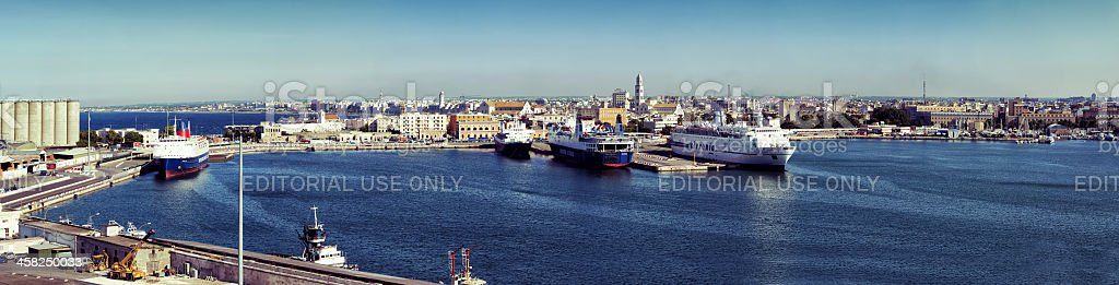 Panoramic view of the port royalty-free stock photo