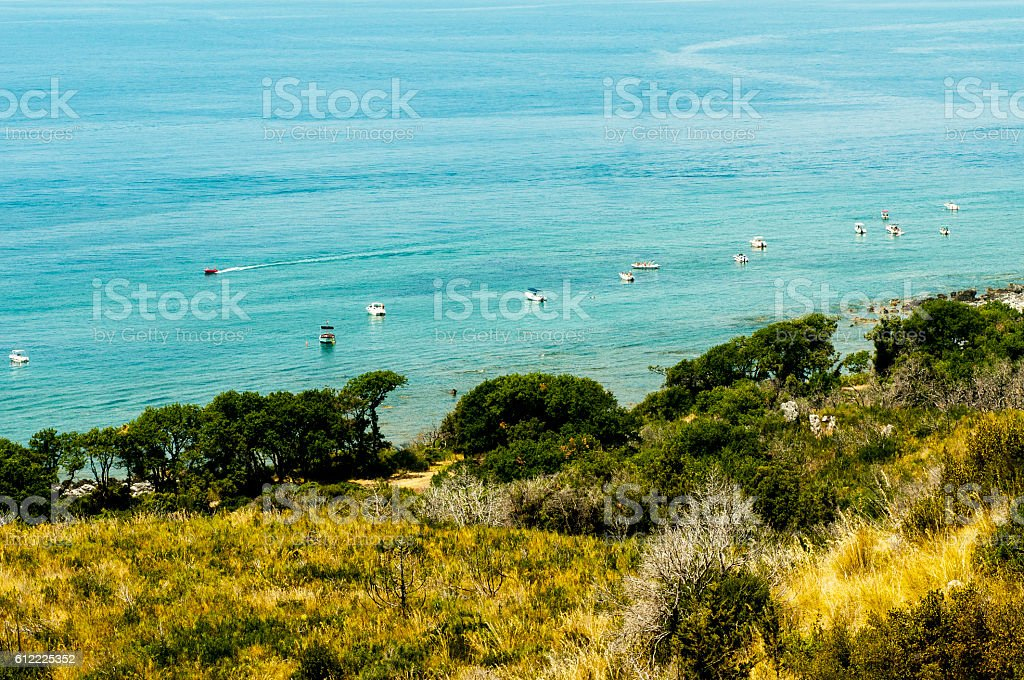 Panoramic view of the sea in Maratea.Italy stock photo