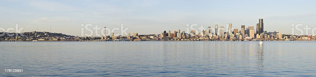 Panoramic View of the Seattle Skyline (XXXL) stock photo