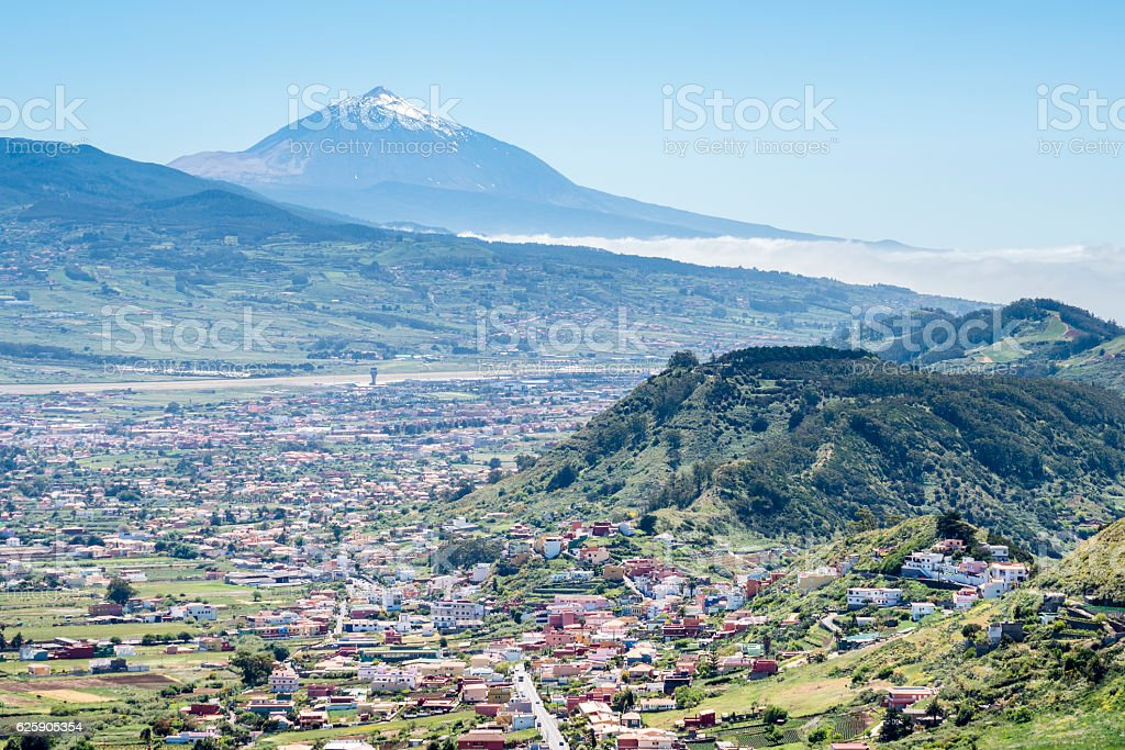 Panoramic view of the Tenerife. Mount Teide, Canary Islands stock photo