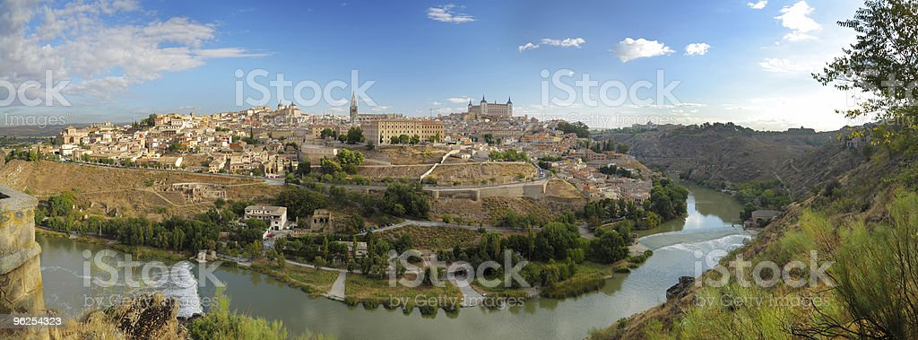 panoramic view of Toledo in Spain royalty-free stock photo
