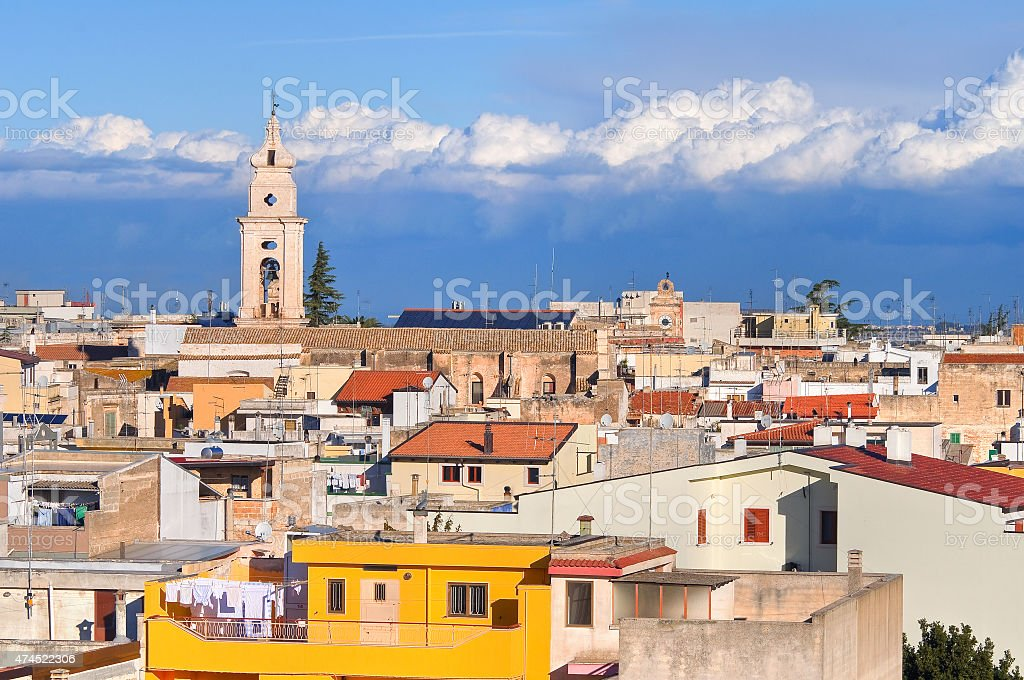 Panoramic view of Turi. Puglia. Italy. stock photo