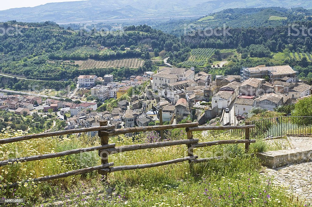 Panoramic view of Tursi. Basilicata. Italy. royalty-free stock photo
