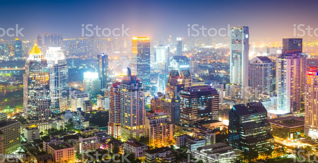 Panoramic view of urban landscape in Asia stock photo