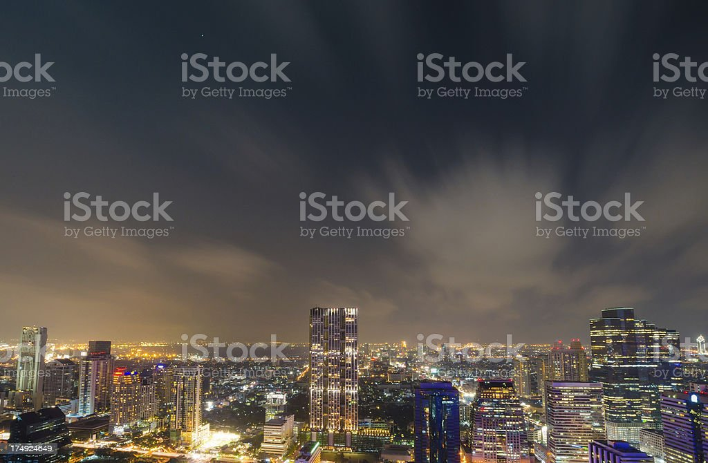 Panoramic view of urban landscape in Bangkok Thailand royalty-free stock photo