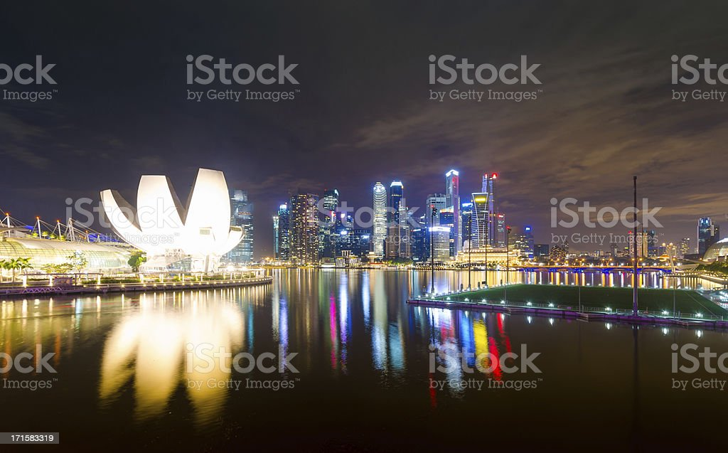 Panoramic view of urban landscape in Singapore royalty-free stock photo