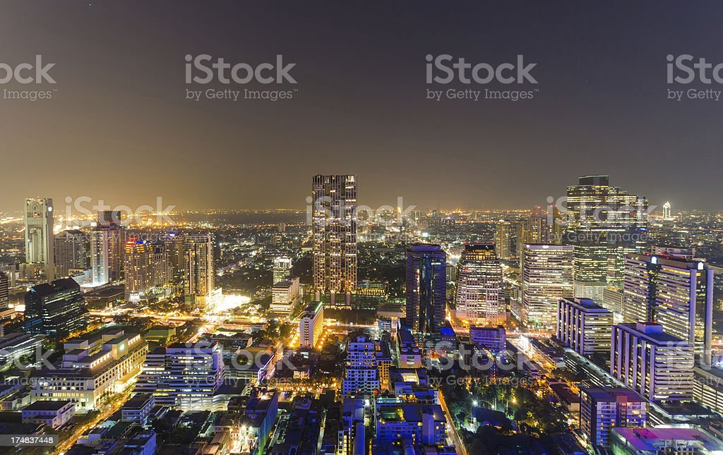 Panoramic view of urban landscape royalty-free stock photo