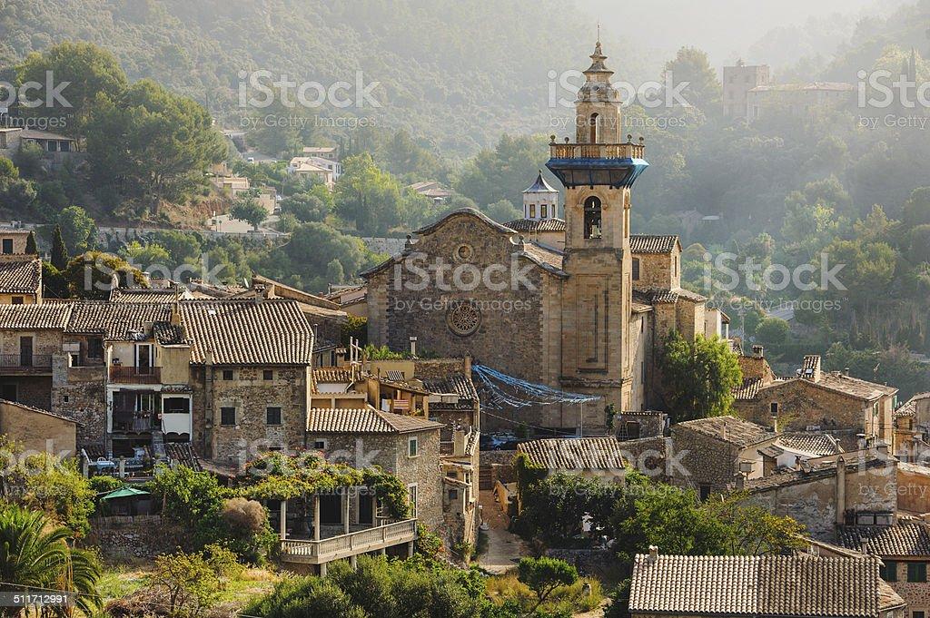 Panoramic view of Valdemossa in Majorka stock photo