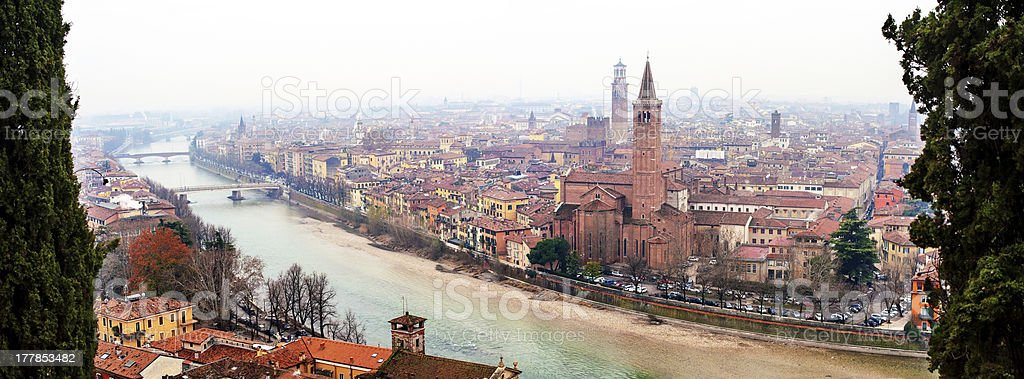 Panoramic view of Verona, Italy royalty-free stock photo