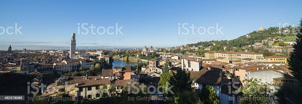 Panoramic View of Verona royalty-free stock photo