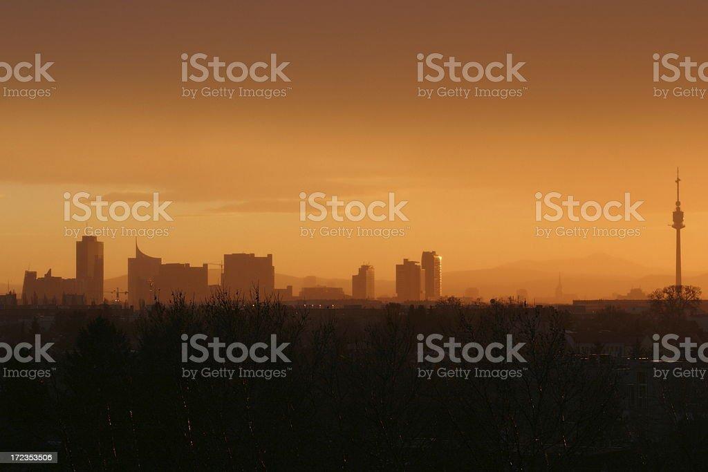 Panoramic view of Vienna, Austria stock photo