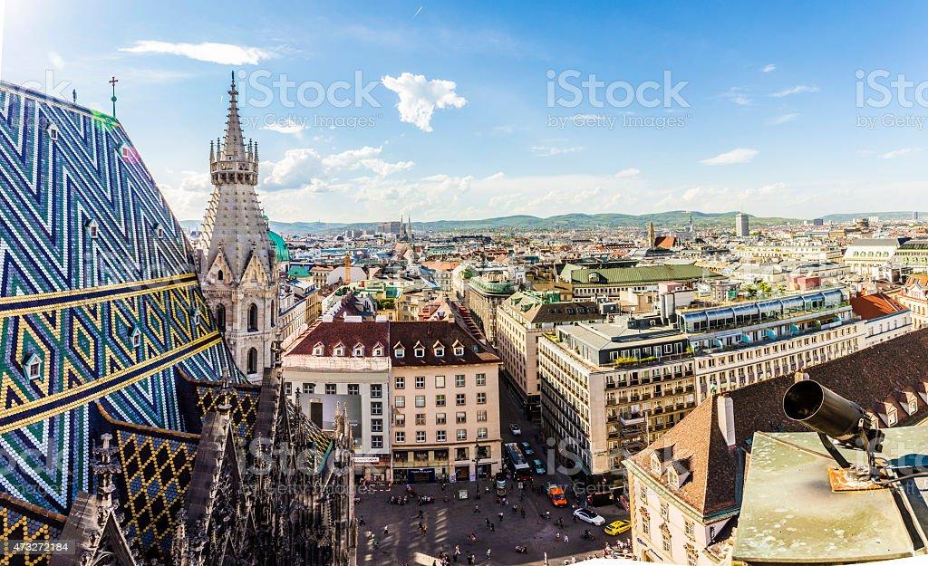 Panoramic view of Vienna stock photo