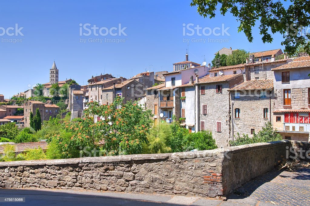 Panoramic view of Viterbo. Lazio. Italy. stock photo