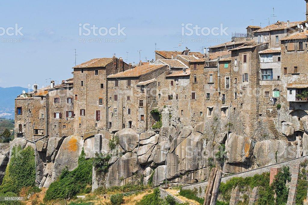 Panoramic view of Vitorchiano. Lazio. Italy. stock photo