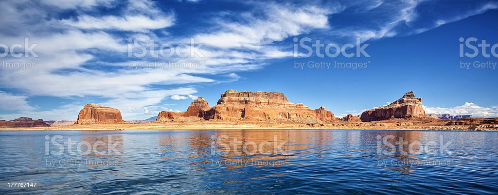 panoramic view on famous lake Powell stock photo