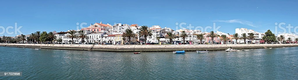 Panoramic view on Lagos in Portugal stock photo