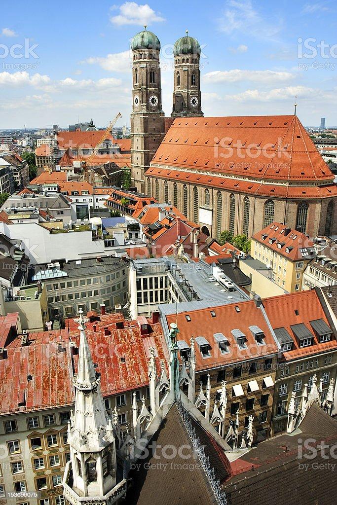 Panoramic view on Munich city, Germany stock photo