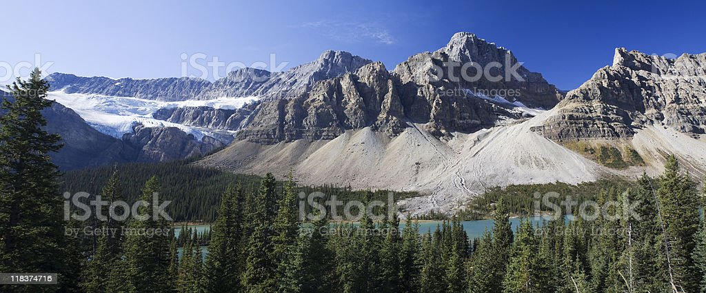 panoramic view on Rocky Mountains stock photo