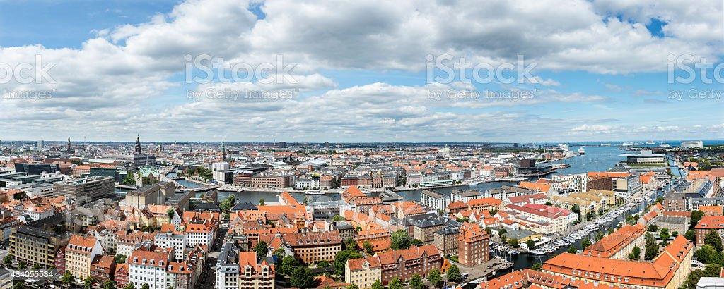 Panoramic View Over Copenhagen stock photo