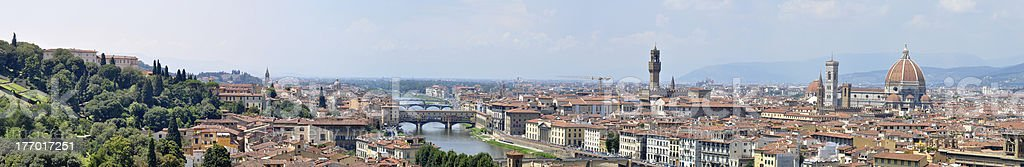 Panoramic view over Florence royalty-free stock photo