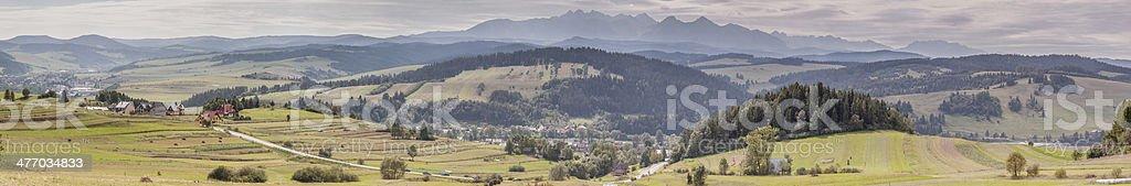 Panoramic view - Pieniny. stock photo
