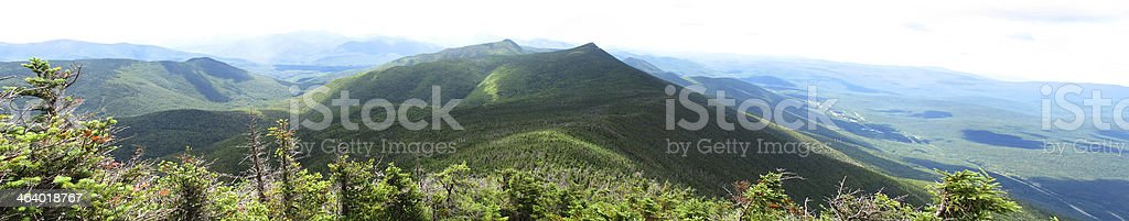 Panoramic View South from Little Haystack Mtn, Franconia Ridge stock photo