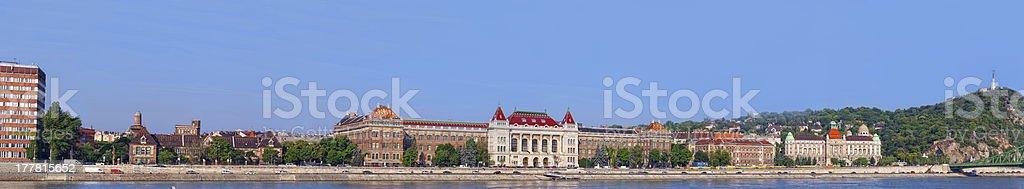 panoramic view to Budapest stock photo