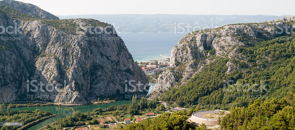 Panoramic view to Omis royalty-free stock photo