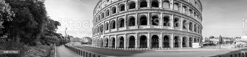 Panoramic view to the Colosseum area, east side stock photo