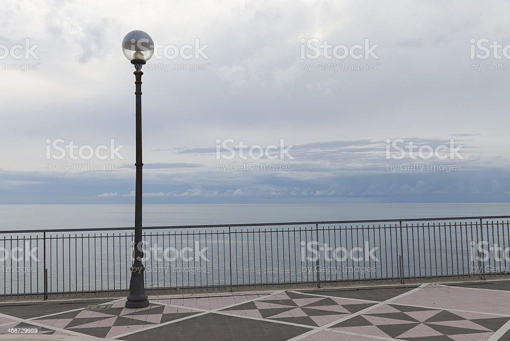 veduta panoramica con rosa dei venti royalty-free stock photo