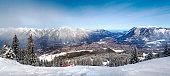 Panoramic views of the Alps and Garmisch-Partenkirchen