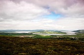 panoramic views over to Drongawn Lough in Donegal (Ireland)