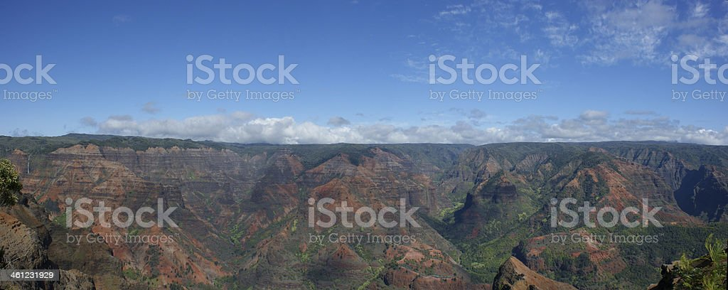 Panoramic Waimea Canyon royalty-free stock photo