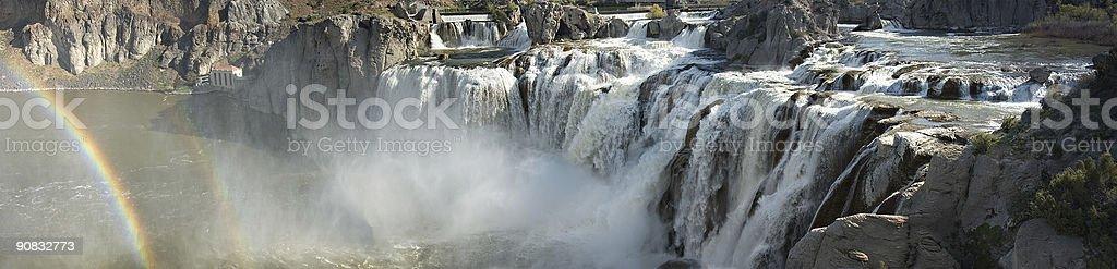 Panoramic Waterfall royalty-free stock photo