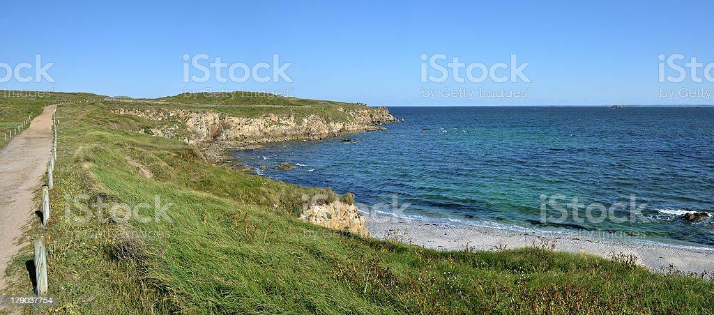 Panoramic Wild Coast of Quiberon in France royalty-free stock photo