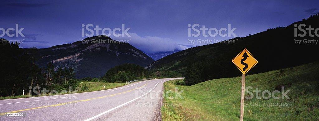 Panoramic Winding Road stock photo
