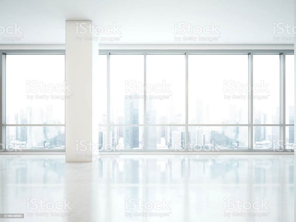 Panoramic window stock photo