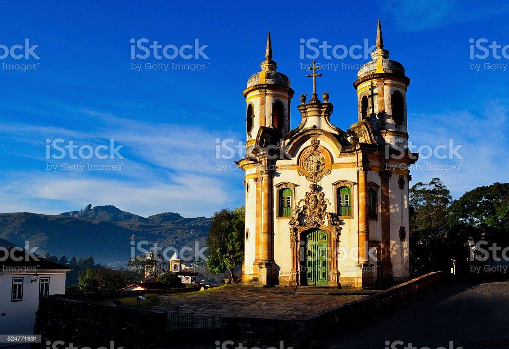 Panoramica Ouro preto Brasil stock photo