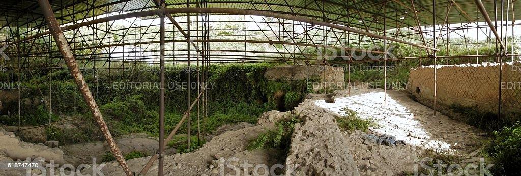 Panoramica ruderi romani stock photo