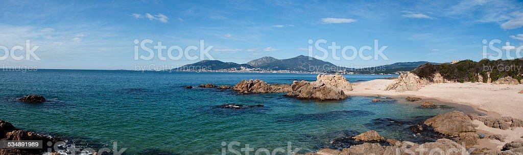 panoramique d'Ajaccio stock photo