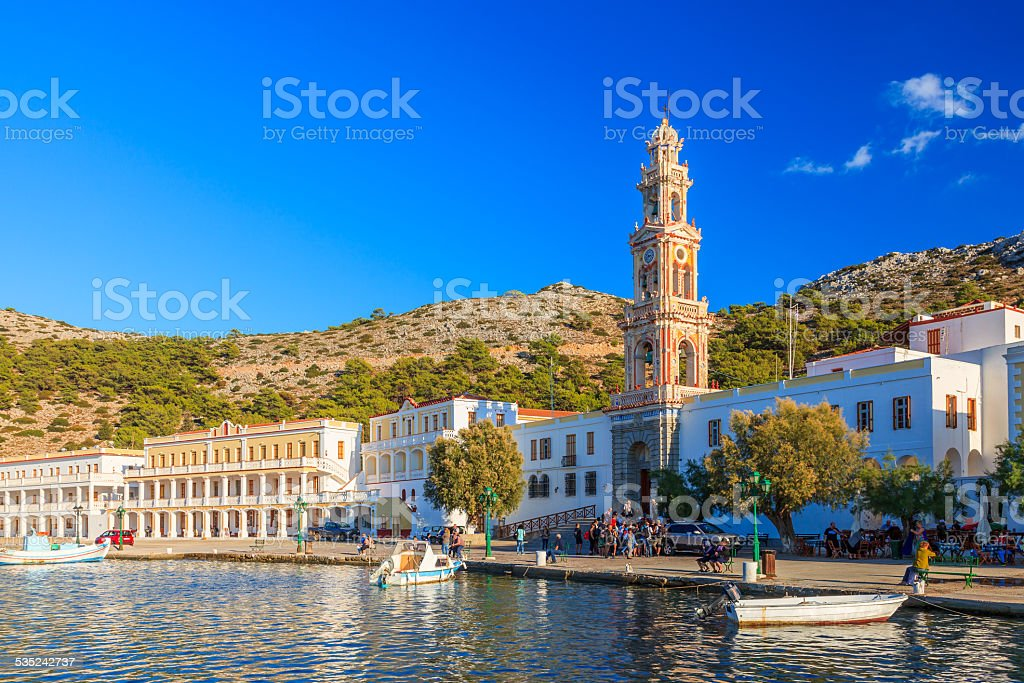 Panormitis Symi Greece stock photo