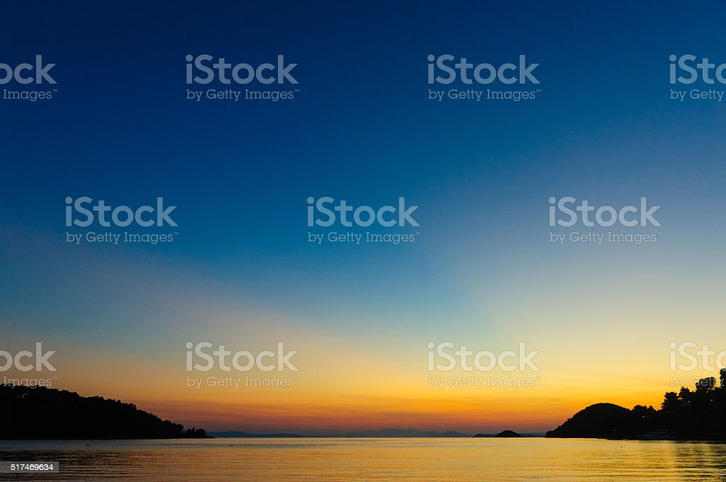 Panormos bay stock photo
