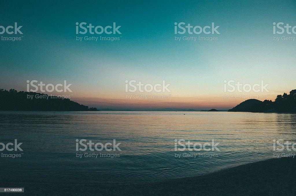 Panormos bay stock photo
