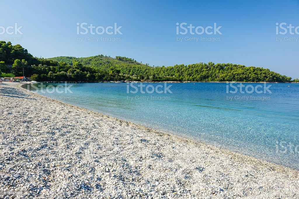 Panormos beach Skopelos stock photo
