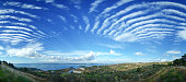 Panoroma: Landscape with beautiful Cloudy in Dardanelles, Canakkale