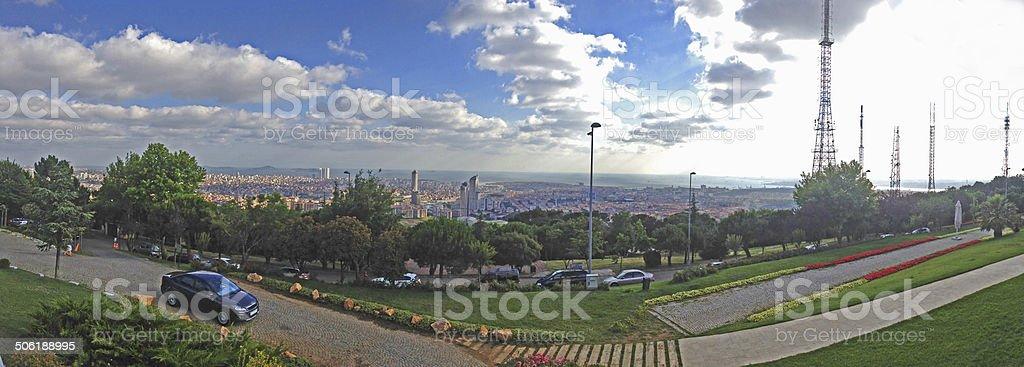 panoromic istanbul stock photo