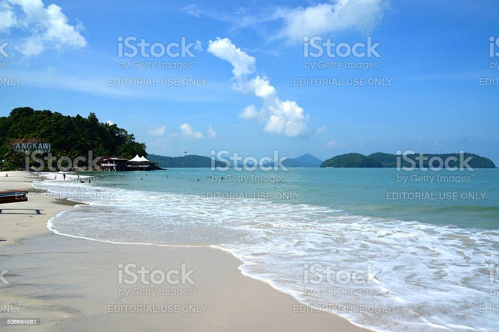 Pantai Cenang beach, Langkawi stock photo