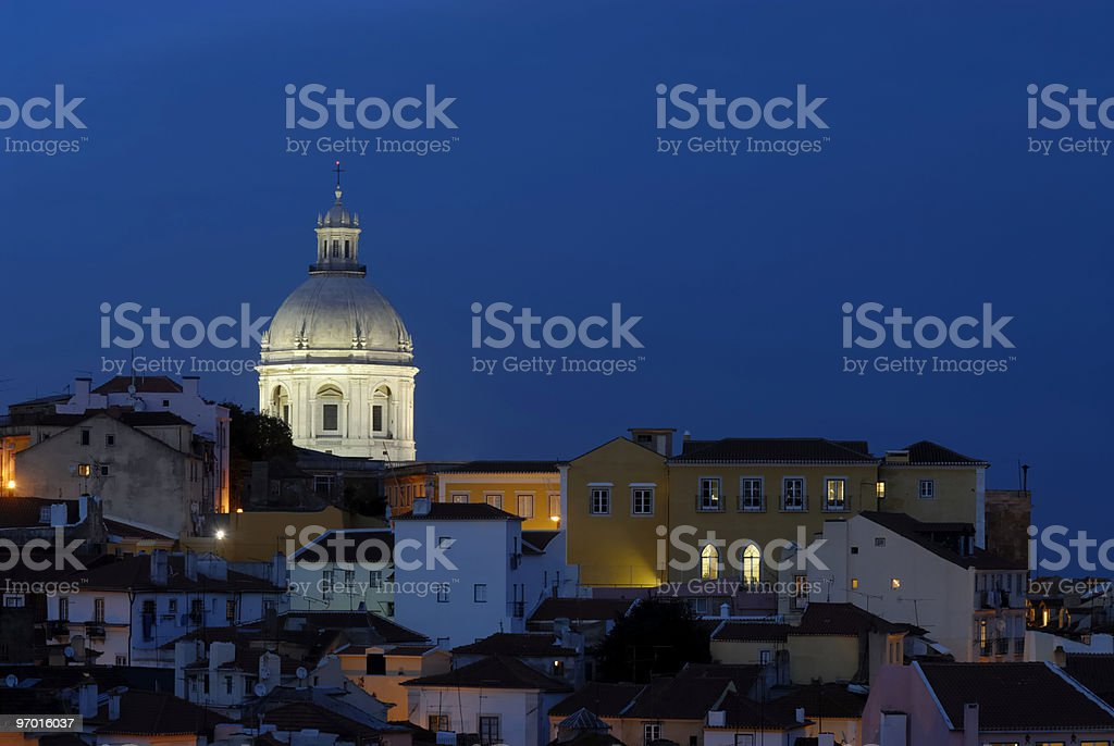 Panteao Nacional and Alfama royalty-free stock photo