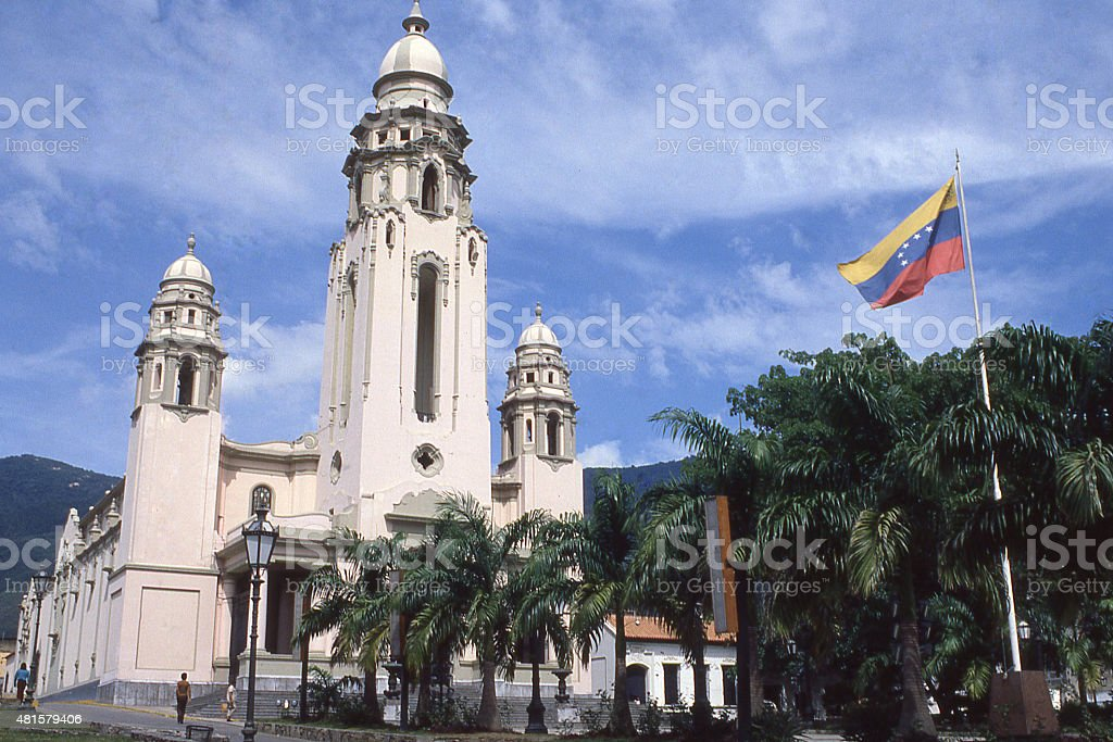 Panteón Nacional National Cemetery Mausoleum historical monuments near Caracas Venezuela stock photo