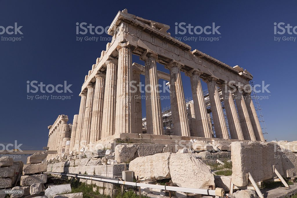Panthenon under reconstruction, Acropolis Athens royalty-free stock photo